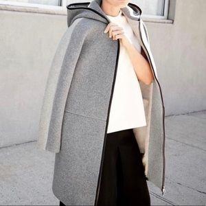 J.Crew Gray Wool In Colorblock Coat 4